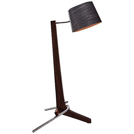 Cerno Silva Black Walnut and Ebony LED Table Lamp