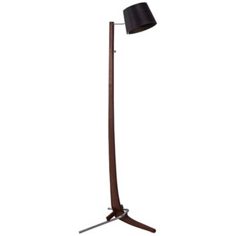 Cerno Silva Oiled Walnut and Ebony LED Floor Lamp