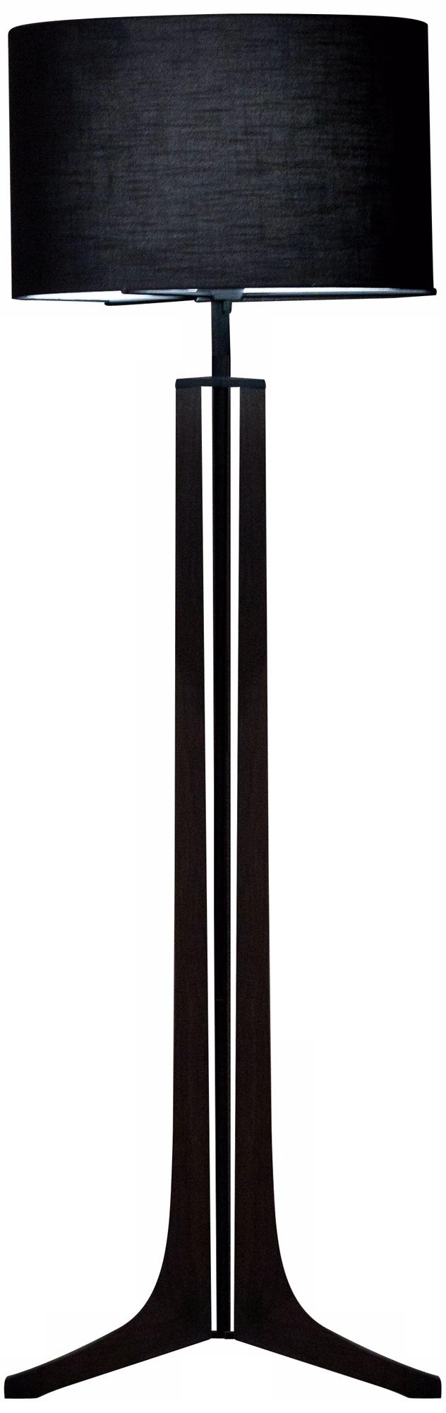 Cerno Forma Black Walnut LED Floor Lamp with Black Shade (X6765)