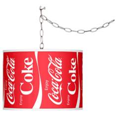 "Enjoy Coca-Cola® 13 1/2"" Wide Plug-In Swag Pendant"
