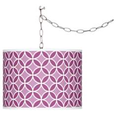 Verve Violet Circle Rings Plug-In Swag Pendant