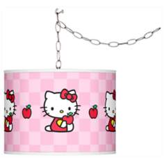 Hello Kitty Apples Giclee Glow Plug-In Swag Pendant