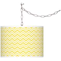Lemon Twist Narrow Zig Zag Giclee Glow Swag Pendant