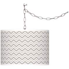 Requisite Gray Narrow Zig Zag Giclee Glow Plug-In Swag
