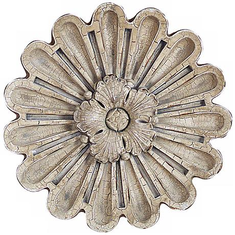 "Port 68 Elizabeth Medium 13"" Wide Rosette Wall Ornament"