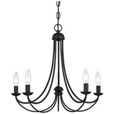 "Quoizel Mirren 21"" Wide Imperial Bronze Chandelier"