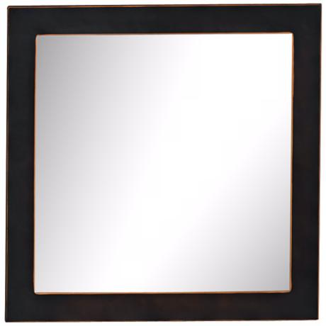 "Port 68 Drake 19"" Square Bronze Wall Mirror"