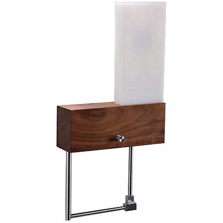 "Cerno Cubo Right-Hand Plug-In 9"" Wide LED Wall Sconce"