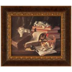 "Playful 22"" High Framed Kittens Wall Art"