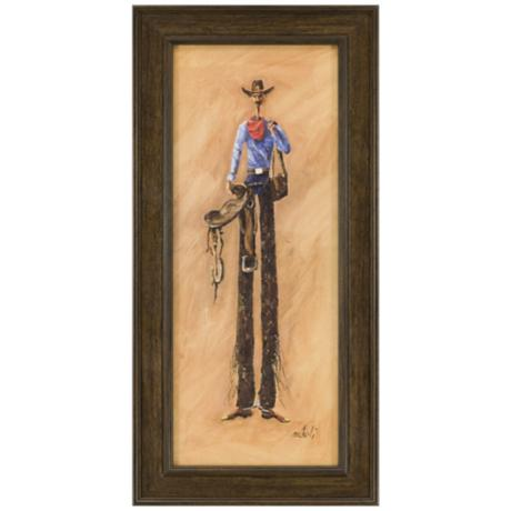 "Desperado 23"" High Framed Western Wall Art"
