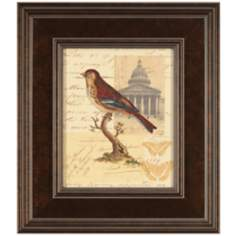 "Naturalist's Collage I Framed 16"" High Bird Wall Art"