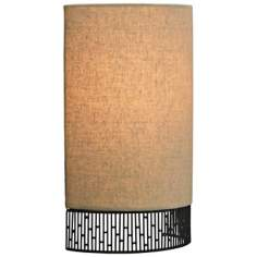 "LBL Hollywood Beach 11 3/4"" Fabric LED Ceiling Light"