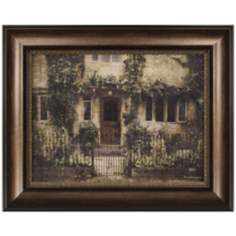 "English Cottage IV Framed 31 1/2"" High Country Wall Art"