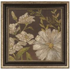 "Earth and Floral I Square 25 1/2"" Flower Wall Art"
