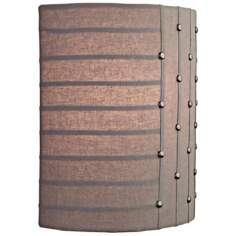 "LBL Elba 11"" Striped Gray Fabric LED Wall Sconce"