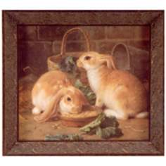 "Bunnies Meal 17 3/4"" Wide Wall Art"