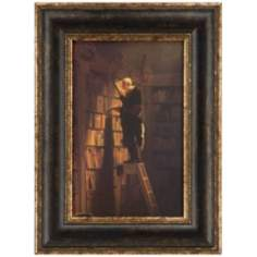 "The Bookworm 24"" High Framed Wall Art"