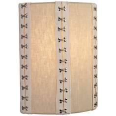 "LBL Glama 11"" High Tan Fabric Wall Sconce"
