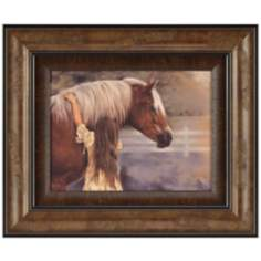 "First Love 28"" Wide Framed Horse Wall Art"