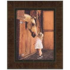 "Little Visitor 21 1/2"" High Framed Horse Wall Art"