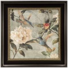 "Birds of a Feather I 26 3/4"" Square Framed Floral Wall Art"