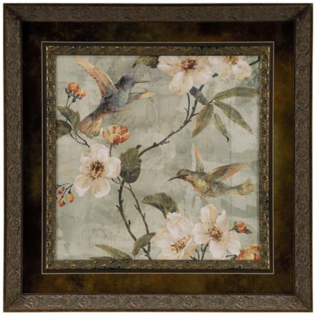 "Birds of a Feather II 26 3/4"" Square Framed Wall Art"