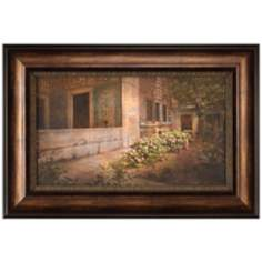 "Istanbul Hydrangeas 31 1/2"" Wide Framed Wall Art"