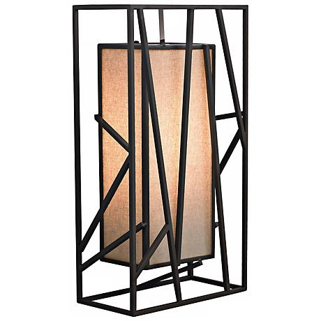 "LBL Derby 14 1/2"" Rectilinear Metal Wall Sconce"