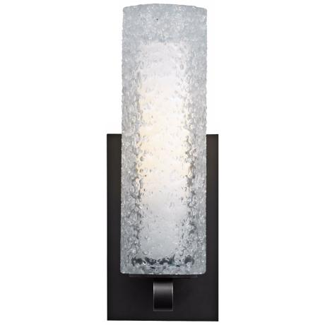 "LBL Mini-Rock Candy 12"" Clear Glass Wall Sconce"