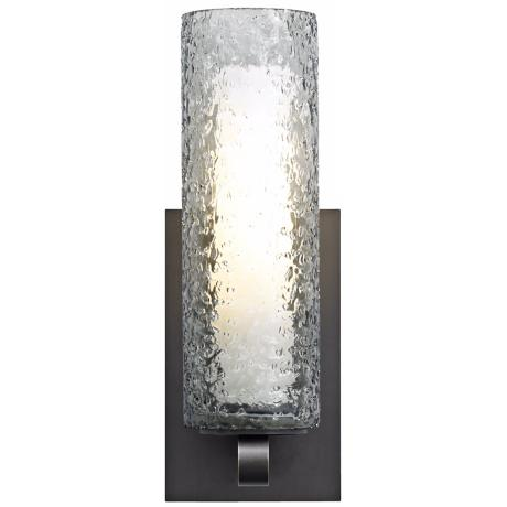 "LBL Mini-Rock Candy Smoke Glass 12"" Wall Sconce"