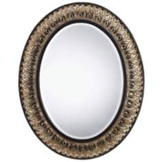 "Sorel 29"" High Oval Copper Wall Mirror"