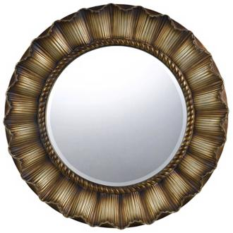 "oberlin round 33"" golden wall mirror (x6921)"
