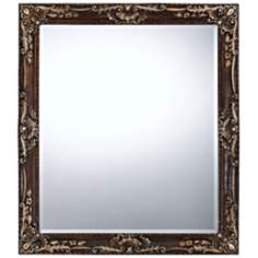 "Hamilton 33"" High Floral Rectangular Wall Mirror"
