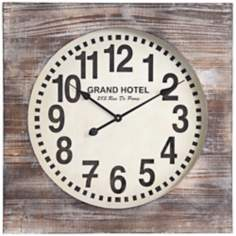 "Cooper Classics Augusta 27"" Wide Wood Wall Clock"