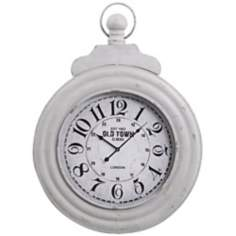 "Cooper Classics Dillon 34"" High Ivory Wall Clock"