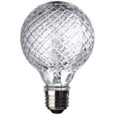 40 Watt Halogen Faceted G25 Decorative Bulb