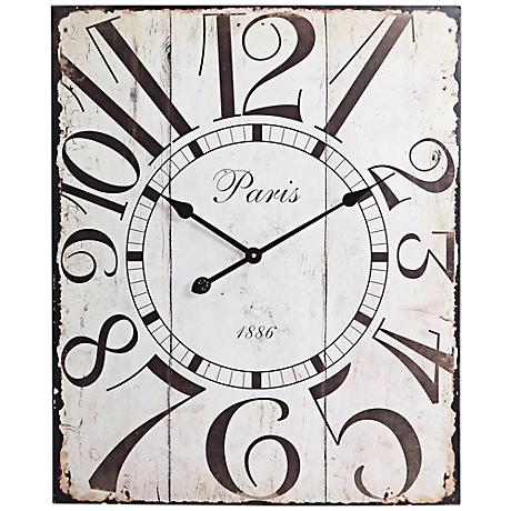 "Cooper Classics Redding 28"" High Rectangular Wall Clock"