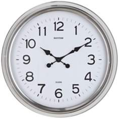 "Cooper Classics Wyeth Nickel 24 1/2"" Wide Wall Clock"