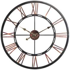 "Cooper Classics Mallory 27 1/2"" Wide Copper Wall Clock"