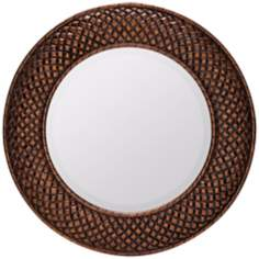 "Cooper Classics Hewitt Round 38"" Decorative Wall Mirror"
