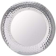 "Cooper Classics Kindel Round 34"" Nickel Wall Mirror"
