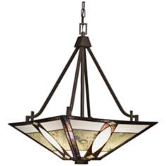 "Kichler Denman 18"" Wide Tiffany Style Pendant Light"