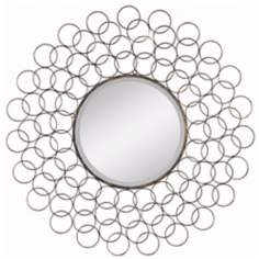 "Cooper Classics Creston 34"" Wide Circle Wall Mirror"