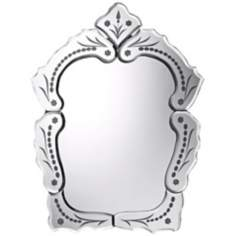 "Wilmington 20"" High Etched Wall Mirror"