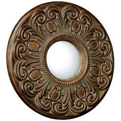 "Moorfield Collection 24"" Wide Round Wall Mirror"