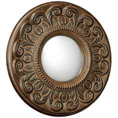 "Moorefield Collection Round 19"" Wide Wall Mirror"