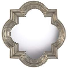 "Osbourne Midland Silver 30"" High Wall Mirror"