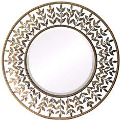 "Willow Brook Collection Walker Silver 39"" Wide Wall Mirror"
