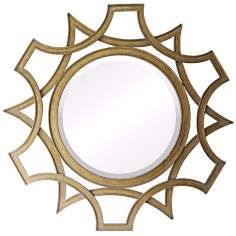 "Abberley 40"" High Malden Gold Wall Mirror"