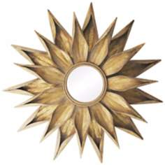 "Brackenhead 36"" High Cambelside Gold Wall Mirror"
